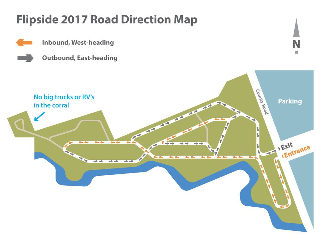 A map with new directions on road #3.